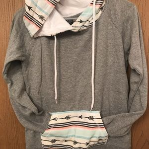 Pull over hoodie.